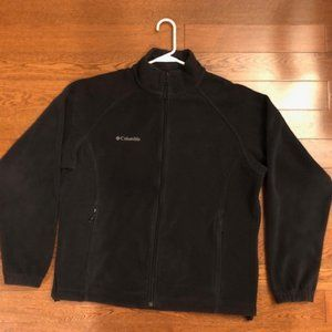 Black Columbia fleece jacket, ladies size Large